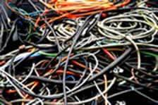 Déchets de câbles électriques à broyer